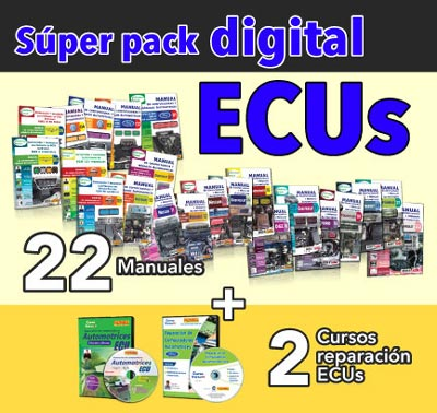 S�per paquete digital: 22 manuales y dos cursos de reparaci�n de computadoras automotrices