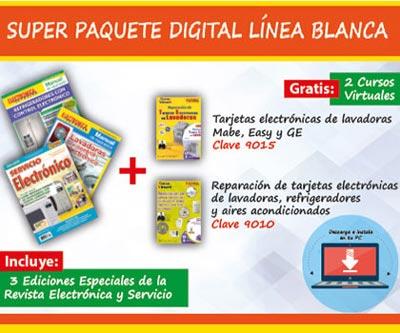Paquete: reparacion de electronica de linea blanca